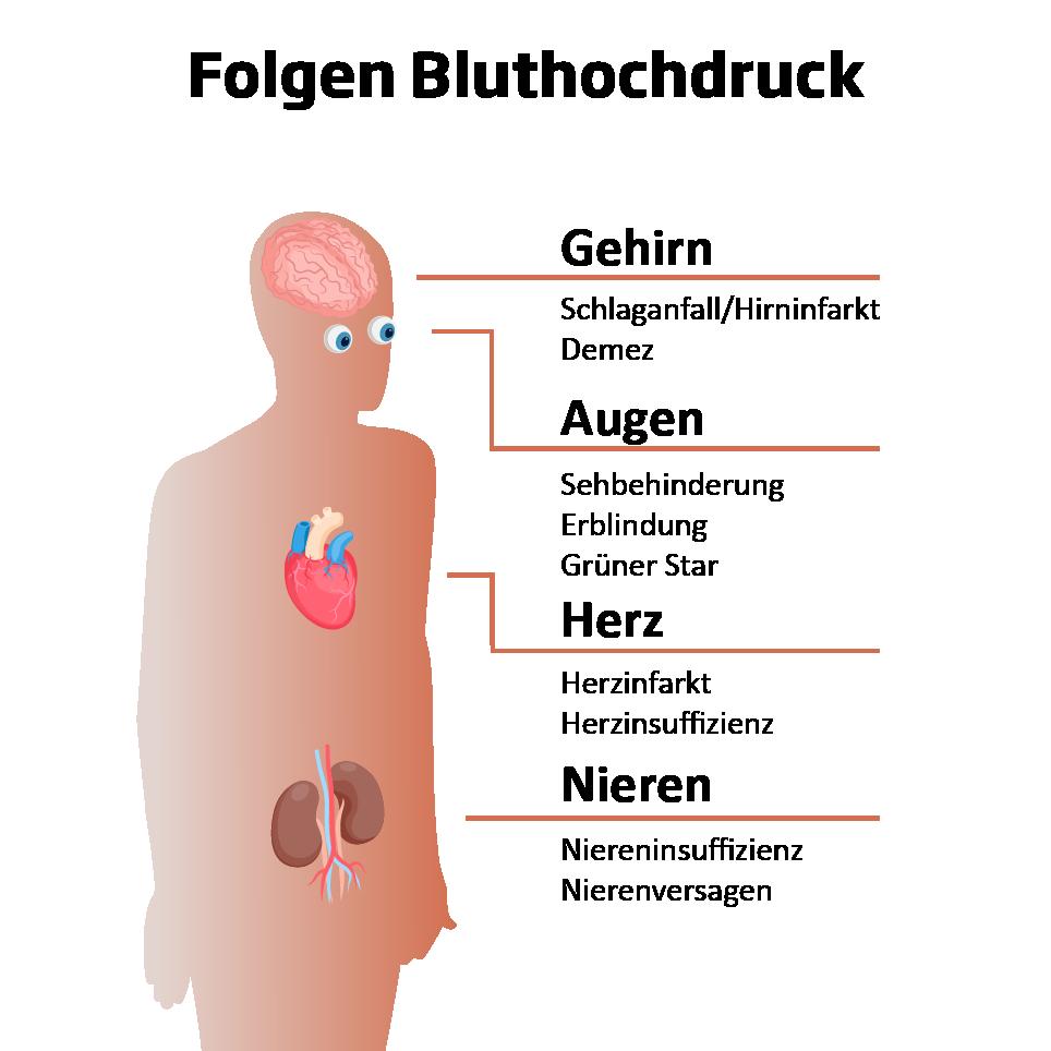 Folgen Bluthochdruck Herz-Kreislauf-System
