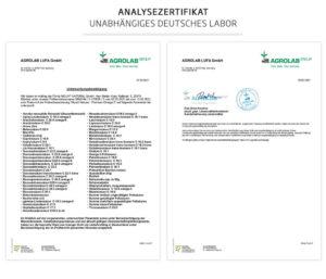 Premium Omega 3 Analysezertifikat