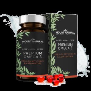 Mount Natural - Premium Omega 3 Produktbild mit Box