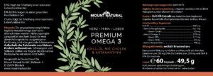 Mount Natural - Premium Omega 3 Label